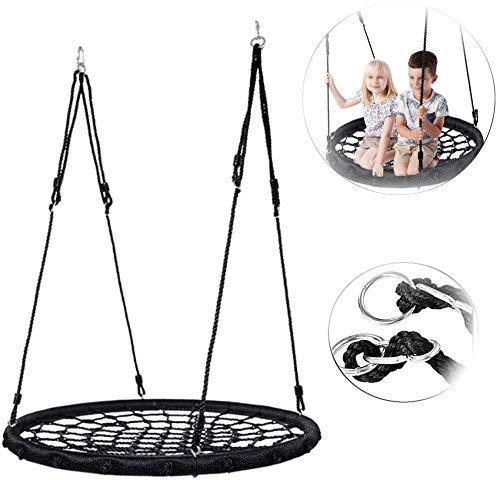 Nest Swing Seat, Nest Disc Spider Tree Swing, 100 Cm Diameter, Tot 100 Kg, Buiten, Tuin, Zwart
