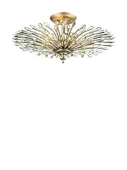 Elk Lighting 31431/3 Viva Collection 3 Light Semi Flush Aged Silver