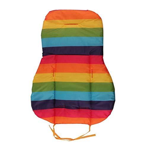 Jxnb - Cojín portátil para cochecito de bebé con rayas de algodón para coche de bebé a prueba de agua, accesorios para cochecito de bebé