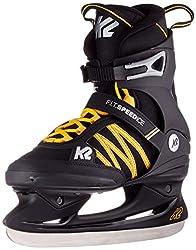 K2 Skates Herren F.i.t. Speed Ice Schlittschuh, Black Orange, 41 EU