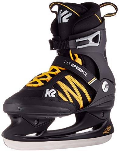 K2 Skates Herren Schlittschuhe F.I.T. Speed Ice — black - orange — EU: 43.5 (UK: 9 / US: 10) — 25C0070
