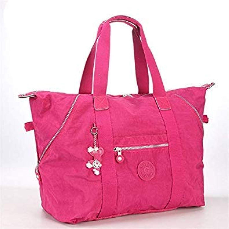 Bloomerang Fashion Ultralight Large Capacity Women's Shoulder Bag Nylon Foldable Multifunctional Travel Tote Shoulder Bag Totes Handbag color Burgundy