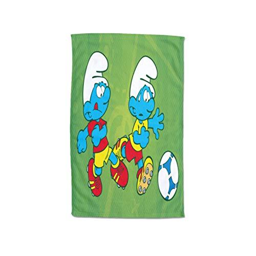 Large Puzzle The Pitufos - Toalla de baño (100% algodón, 80 x 130 cm)