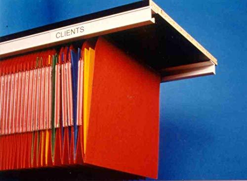 Kitclass 606733 - Rieles PVC para capetas colgantes en armarios (aluminio, 120 x 3 x 3 cm, 798 g), color plateado