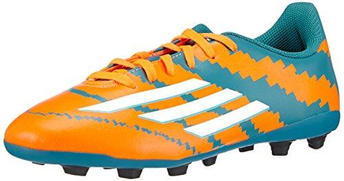 adidas Messi 10.4 FxG Junior - Zapatillas de fútbol para niños, Multicolor (power teal f14/ftwr white/solar orange), 36.0