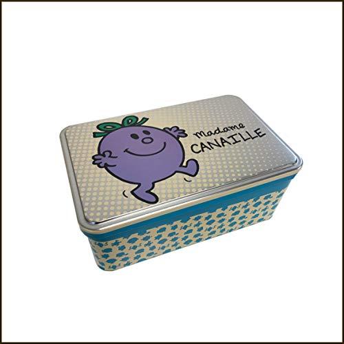 Caja metálica con diseño de la señora Canaille