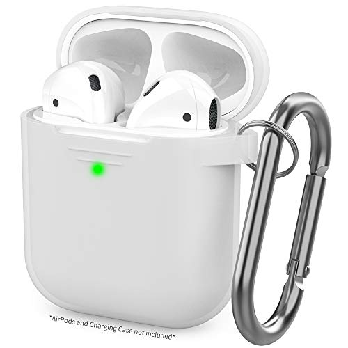 AhaStyle Upgrade AirPods Case Silicon Protective Cover [Front LED Visible] Compatible with Apple AirPods 2 and 1 (Clear)