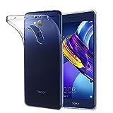 ebestStar - kompatibel mit Huawei Honor 6C Pro Hülle Handyhülle [Ultra Dünn], Premium Durchsichtige Klar TPU Schutzhülle, Soft Flex Silikon, Transparent [Phone: 147.9 x 73.2 x 7.7mm, 5.2'']