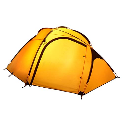 Outdoor Tent Double Layer 3-4 Person More Color Choose Waterproof Ultralight Ultra Large Camping Tent Yellow