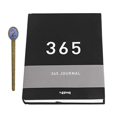 Agenda di pianificazione, quaderno da disegno, 365 giorni, spesso, quaderno da lavoro, diario di riunione, blocco note segreto, copertina in tessuto con segnalibro