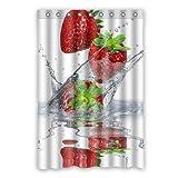 Dalliy Brauch erdbeere Wasserdicht Polyester Shower Curtain Duschvorhang 120cm x 183cm