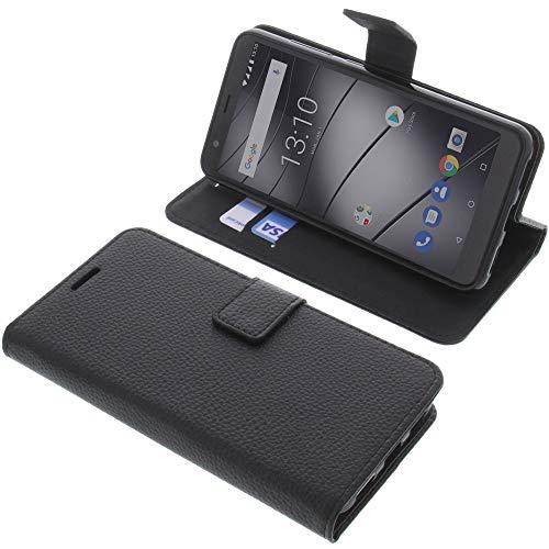 foto-kontor Tasche für Gigaset GS280 Book Style schwarz Schutz Hülle Buch