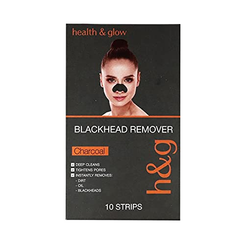 Health & Glow Charcoal Blackhead Remover Nose Strip Pack Of 10