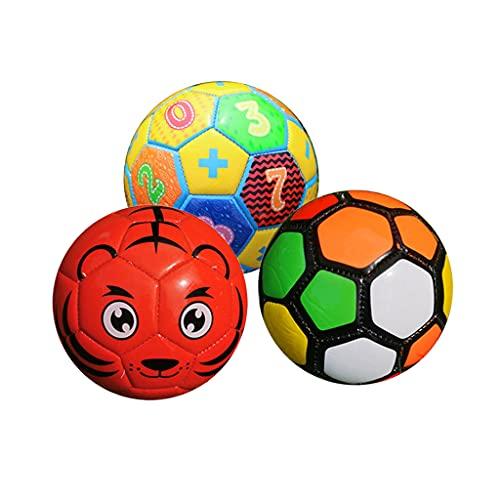 F Fityle 3 Piezas de Fútbol para Niños, Niños Pequeños, Entrenamiento Deportivo, Pelota de Espuma, Juguetes de 6'