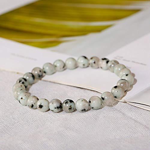 BroochshiWo Pulsera de piedra hecha a mano, cuentas de piedra natural, aventurina, ojo de tigre, pulsera elástica para hombres, unisex, accesorio de yoga, 49