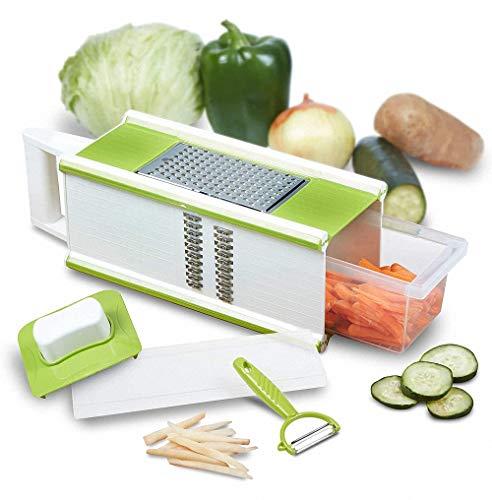 CBA BING 4-zijdig met handbox, groenteras, uien, levensmiddelen, groenten, chopper snijder, 5 in 1 voorraadbak
