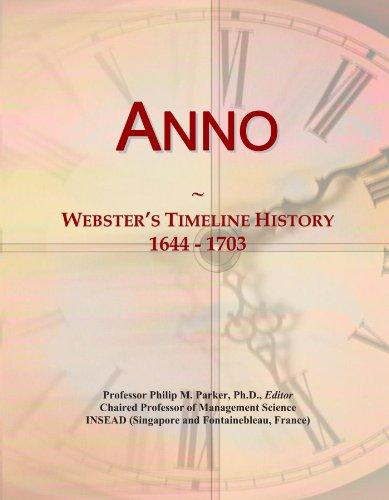 Anno: Webster's Timeline History, 1644 - 1703