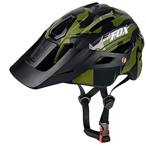 BAT FOX Casco de Bicicleta de montaña para Adultos Casco Ligero de Ciclismo MTB con...