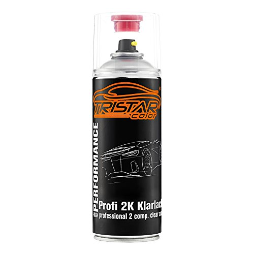 TRISTARcolor 2K Spraydose Profi KLARLACK hochglänzend HS 400 ml Autolack Sprühdose