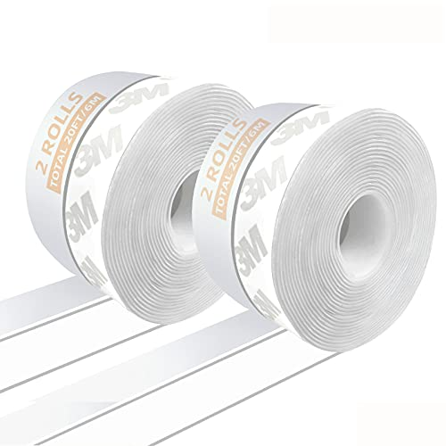 Bandas de sellado autoadhesivas para ventanas de protección contra la intemperie, de silicona, para puertas y puertas de cristal, pack de 2 (transparente) 25mm