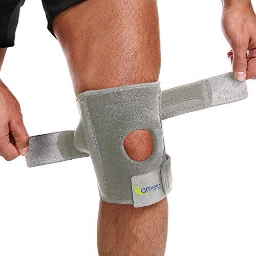 Rodillera ortopédica rotulea, rodillera deportiva crossfit, soporte de 4 varillas laterales elásticas, recuperación postoperatoria rota, ligamentos artrosis, cruzado, menisco, hombre y mujer