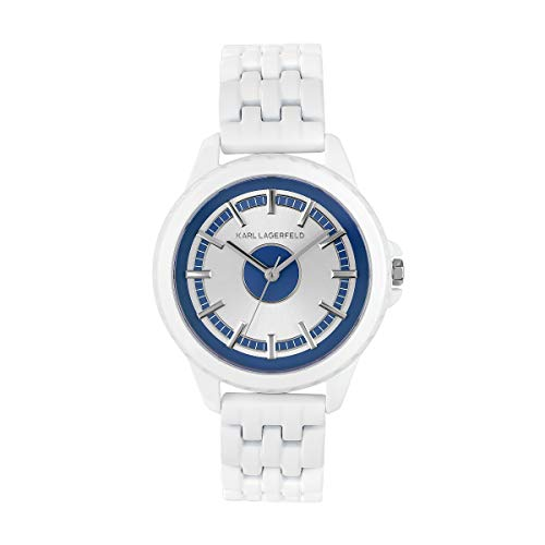 KARL LAGERFELD Women's Blue & White Color Block Bracelet Damenuhr, 36mm, Quarz - 5552751