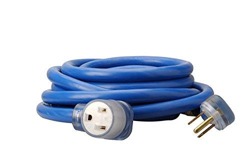Coleman Cable 19228806 8/3 Heavy-Duty STW 50-Amp/250-Volt Nema 6-50 Blue Welder Extension Cord, 50-Feet
