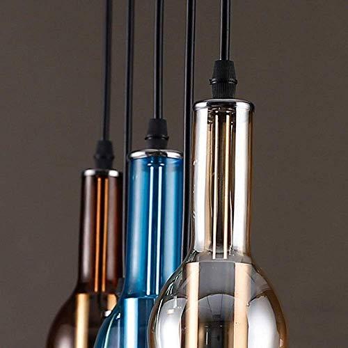 LHQ-HQ Personalidad retro creativo botella de vidrio forma tamaño 54 cm* 31 cm lámparas y linternas dormitorio comedor estudio pasillo decoración porche