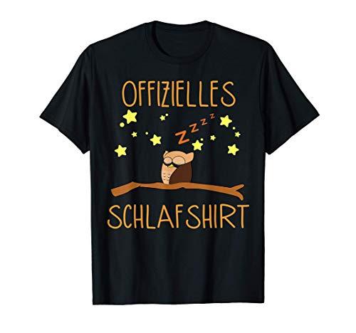 Offizielles Schlafshirt Eule Schlafanzug Nachthemd Pyjama T-Shirt