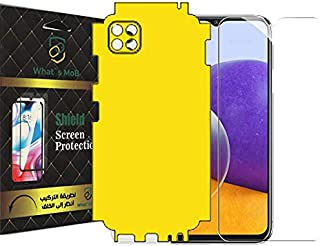 For Samsung A22 5G 2 In 1 Screen Protector Front And Back Clear