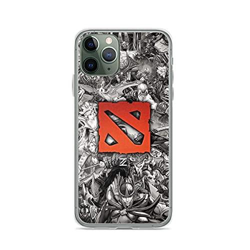 Funda de teléfono personalizada compatible con iPhone 11 Dota 12 Heroes Pro Drawing Max Negro Mini Blanco X XS XR 8 7 6 S Plus Probado Shock