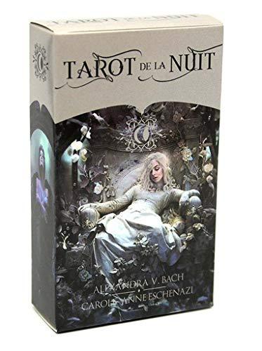 FEZD Tarot De La Nuit, Juego Completo De Mesa De Inglés, Juego De La Fortuna, Juego De La Tarjeta De Predicción del Destino (Paquete, Mantel)