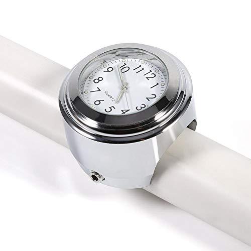 Motorrad Lenkerhalterung Uhr genaue Zeit halten Zifferblatt Uhr, verchromt präzise Split-Ring-Halterung