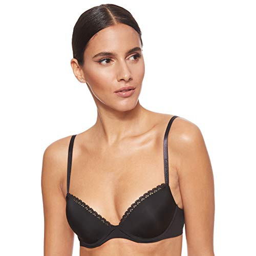 Calvin Klein Seductive Comfort-Customized Lift Sujetador, Negro (Black 001), 75C para Mujer