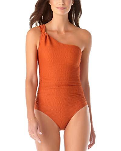 Anne Cole Women's Shoulder One Piece Swimsuit, Cinnamon, 12