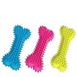 Cepillo de Dientes para Perros INTVN 3 Piezas Dental Cuidado Oral para Mascotas Silicona Limpieza de Dientes Molar Stick Dog Toothbrush 3 Colores