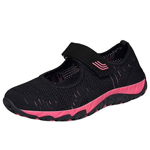 Tefamore Mujer Zapatillas de Respirable Deportivo de Malla Tejida para Mujer Primavera y Verano 2019 Moda Cómodos Zapatos Señora Casual Calzado con35-40