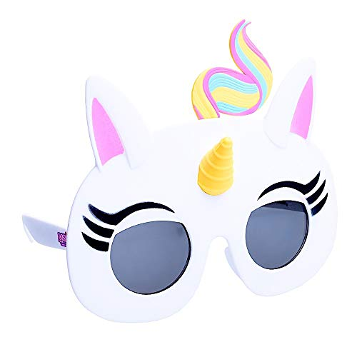 Sun-Staches SG3392 Officially Licensed Fingerlings Unicorn , White, Pink, Black, Yellow, Pink, One Size