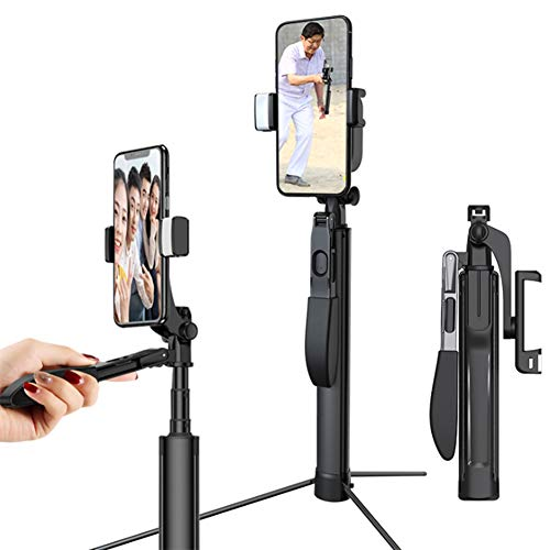 Palo Selfie Trípode Con Selfie Light, Bluetooth Selfie Stick Extensible Con Control Remoto Inalámbrico, Mini Palo Selfie Móvil Para Iphone 11/11 Pro / XR / XS / X, Samsung, Huawei Y Más,1 light,110CM