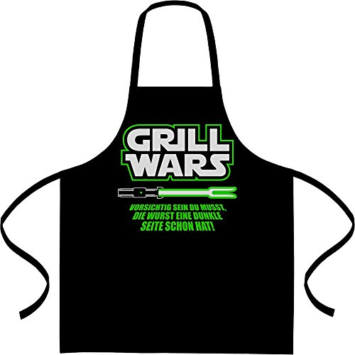 Shirtgeil Geschenk für überirdische Grill Wars Kochschürze, Grillschürze, Latzschürze One Size Schwarz