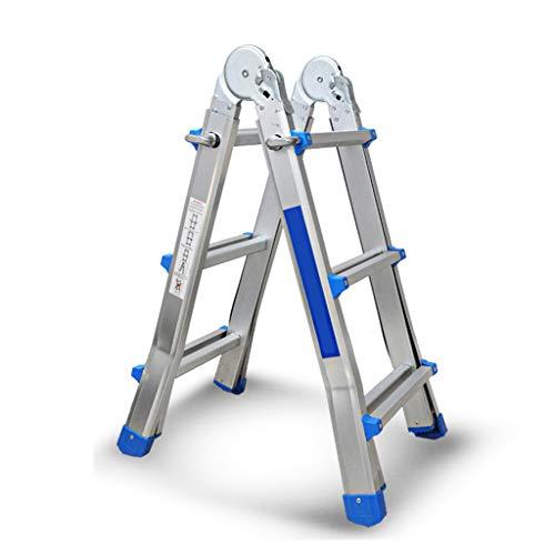 Escalera de extensión multifunción plegable con cerradura para ajustar la altura sólida (tamaño: 3 escalones)