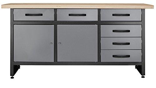 Werkbank mit 6 Schubladen Profiqualität für die Werkstatt 170 cm
