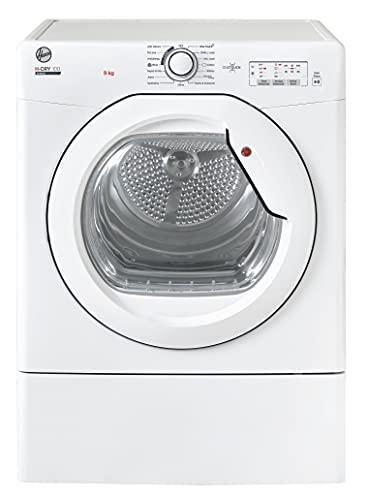 Hoover HLEV9LG Freestanding Vented Tumble Dryer, Sensor Dry, 9 kg Load, White