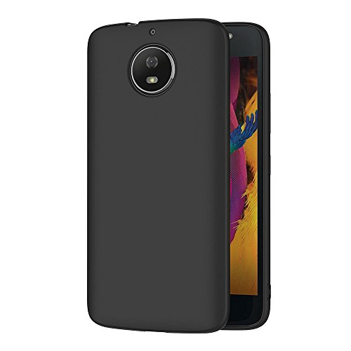 AICEK Cover per Motorola Moto G5S, Cover Moto G5S Nero Silicone Case Molle di TPU Sottile Custodia per Motorola Moto G5S (5,2 Pollici)