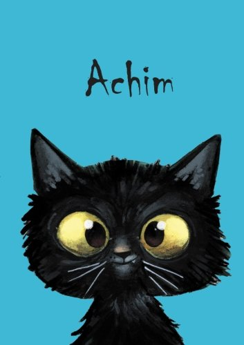 Achim - Coloring Book / Notebook / Diary - DIN A5 - cat – blank