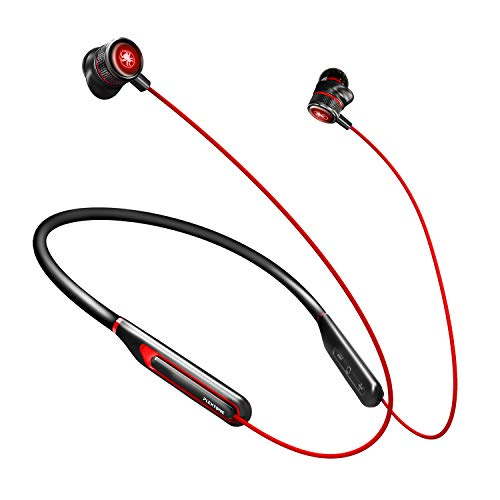 Innens Wireless Gaming Earphone with Mic, Bluetooth 5.0 Low Latency Noise Cancelling Hi-FI 7.1 Surrounded Stereo Gaming Headset in-Ear Earbuds for Mobile Gaming, Tablets, Laptop (Red)