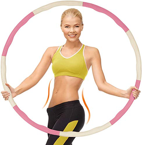DARONGFENG Weighted Hula Hoops Fitness, 8-section Detachable Fitness Hula Hoops for Fitness/Weight Loss/Abdominal Shaping Exercise, Soft Hula Hoop Exercise for Weight Loss Slim Waist