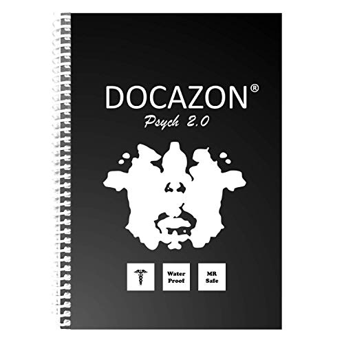 DOCAZON Psych 2.0 | The Perfect Psychiatric History & Mental Status Exam Notebook (Spiral, Water Proof, Disinfectable, MR Safe, 100 Patient Sheets, 5.5