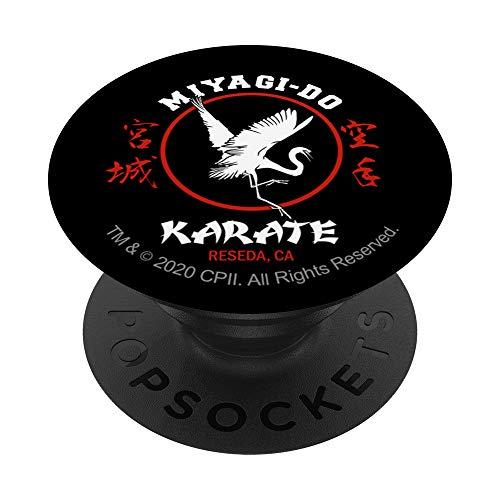 The Karate Kid Miyagi-Do Karate mit Crane 2 Farbe PopSockets PopGrip: Ausziehbarer Sockel und Griff für Handys/Tablets mit Tauschbarem Top