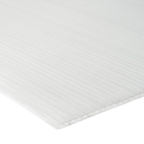 Zelsius 6 mm Ersatzplatten Set für Gewächshaus 05, Hohlkammerstegplatte aus Polykarbonat, Gewächshausplatte, Doppelstegplatte